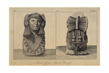 T1596 Statue of an Aztec Priestess  Front and Back View  from Vol I of 'Researches Concerning…