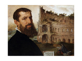 Self Portrait of the Painter with the Colosseum in the Background  1553
