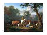 Landscape with Cattle and Figures  1664