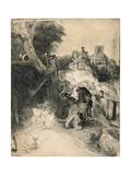 Ad1239-376 St Jerome in an Italian Landscape