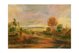 Landscape with Farm Buildings: Sunset  17th Century