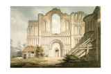 West Front of Castle Acre Priory Church  Near Downham  Norfolk  1796