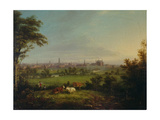 Leeds from the Meadows  C1825