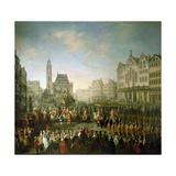 The Coronation Procession of Joseph II (1741-90)  in Romerberg  1764