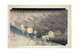 Th Riches 1913 Sudden Rainstorm at Shono ('shono Haku-U')  No46 from the Series '53 Stations of…