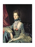 Queen Charlotte Sophia (1744-1818) Wife of King George III (C1765)