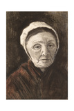 Head of an Old Woman in a Scheveninger Cap  1882-83