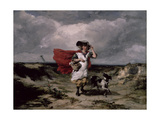 Crossing the Heath  Windy Day  1836