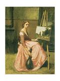 Corot's Studio  C1860