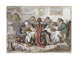 """Germans Eating Sour-Krout""  Pub by Hannah Humphrey  1803"