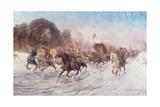 Cossacks in a Winter Landscape