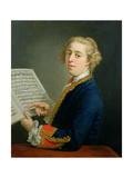 Portrait of Francesco Geminiani (1687-1762)  Italian Violinist