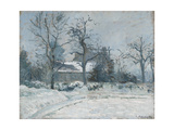 Piette's House at Montfoucault  Snow Effect  1874