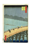 'Sudden Shower at Ohashi Bridge at Ataka'  ('Ohashi  Atake No Yudachi') from the Series '100…
