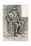 Man with a Spade Resting  1882