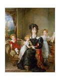 Portrait of Elizabeth Lea and Her Children  C1828