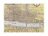 Map of London  from 'Civitates Orbis Terrarum'  by Georg Braun (1542-1622) and Frans Hogenburg…