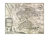 Map of Bristol  from 'Civitates Orbis Terrarum' by Georg Braun (1541-1622) and Frans Hogenberg…