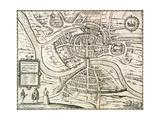 Map of Bristol  from 'Civitates Orbis Terrarum' by Georg Braun (1541-1622) and Frans Hogenberg…