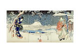 Snow Scene in the Garden of a Daimyo