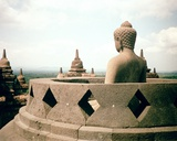 View of a Stupa with a Statue of Buddha