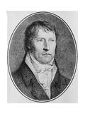 Portrait of Georg Wilhelm Friedrich Hegel (1770-1831)  German Philosopher  Engraved C1825 by…