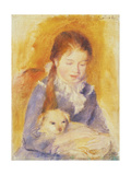 Young Girl with a Dog  C1875