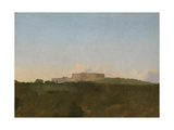 The Castel Sant'Elmo  Naples  from the Capodimonte  1856