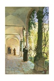 In the Cloisters of Santa Maria Jesus Monastery  in Taormina  1885