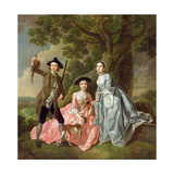George Rogers with His Wife  Margaret  and His Sister  Margaret Rogers  C1748-50
