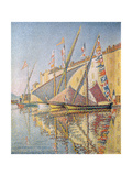 Sailing Boats in St Tropez Harbour  1893