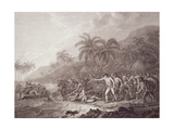 The Death of Captain Cook  Engraved by Francesco Bartolozzi  Pub 1784