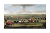 A Race on the Beacon Course at Newmarket  C1750