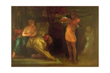 The Triumph of Music: 'Orpheus  by the Power of His Art  Redeems His Wife from Hades'  C1855-56