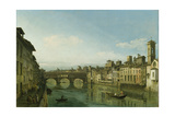 The Arno in Florence with the Ponte Vecchio  C1745