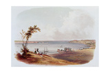 Entry to the Bay of New York  Staten Island  Engraved by Salathe