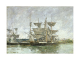 Boats in the Port  Deauville  1881