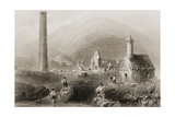The Ruins at Glendalough  County Wicklow  Ireland  from 'scenery and Antiquities of Ireland' by…