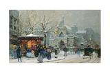 Snow Scene in Paris
