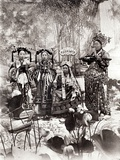Portrait of Tz'U-Hsi (1835-1908) Empress Dowager of China Accompanied by Two Maids of Honour and…