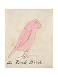 The Pink Bird  from 'sixteen Drawings of Comic Birds'