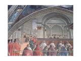 The Loggia and Palazzo Della Signoria  Sassetti Chapel  1483 (Detail)