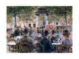 Cafe Scene in Paris  1884