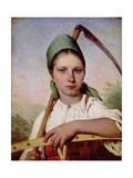 Peasant Woman with a Scythe and Rake  C1825