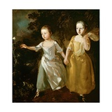 The Painter's Daughters Chasing a Butterfly  C1759
