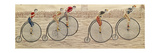 The Last Lap  Penny Farthing Race Woven Silk Stevengraph  by Thomas Stevens of Coventry  1872