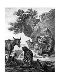 The Animals Fallen Sick with the Plague  Illustration for the Fables of La Fontaine  1755