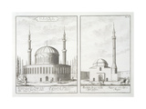 View of a Mosque in Bursa and a Mosque in Hungary  from 'Entwurf Einer Historischen Architektur' …