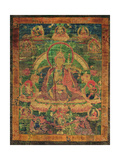 Thangka of Padmasambhava and His 'Eight Manifestations'  19th-20th Century