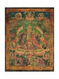 Thangka of Padmasambhava and His 'Eight Manifestations'  19th-20th Century